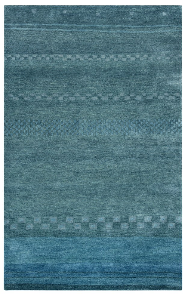 Barranquilla Hand-Tufted Blue Area Rug Rug Size: Rectangle 3'6