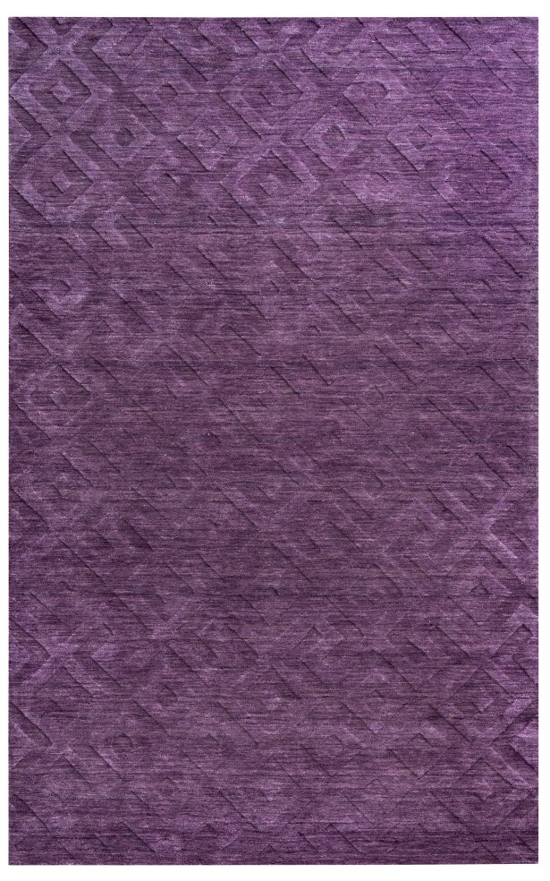 Gijon Hand-Loomed Purple Area Rug Rug Size: Rectangle 8' x 10'