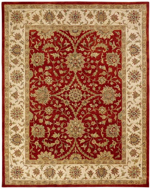 Chaudhary Hand-Woven Red/Beige Area Rug Rug Size: Rectangle 9'6