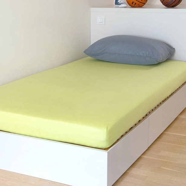 Breathable and Waterproof Select Fitted Sheet and Protector Color: Green, Size: 75