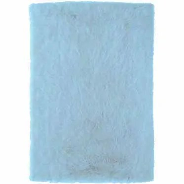 Samantha Hand-Tufted Faux Sheepskin Blue Area Rug Rug Size: Rectangle 3' x 5'