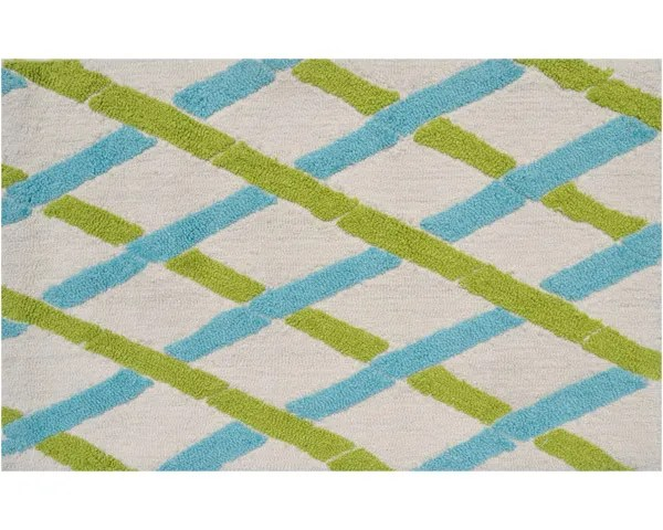 Salem Hand-Woven Aqua/Green Area Rug Rug Size: Rectangle 7' x 10'