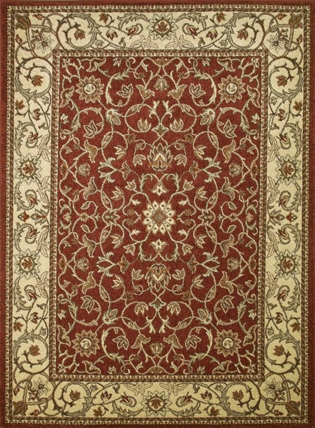 Chester Flora Red Rug Rug Size: Rectangle 3'3