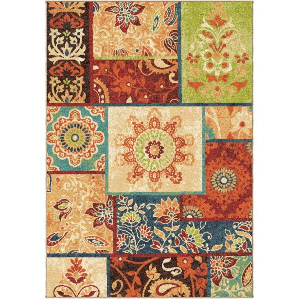 Clarence Brown/Red Area Rug Rug Size: Rectangle 5'3