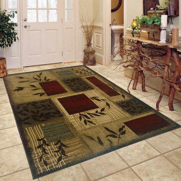 Abell Beige/Wine Red Area Rug Rug Size: Rectangle 5' x 7'6