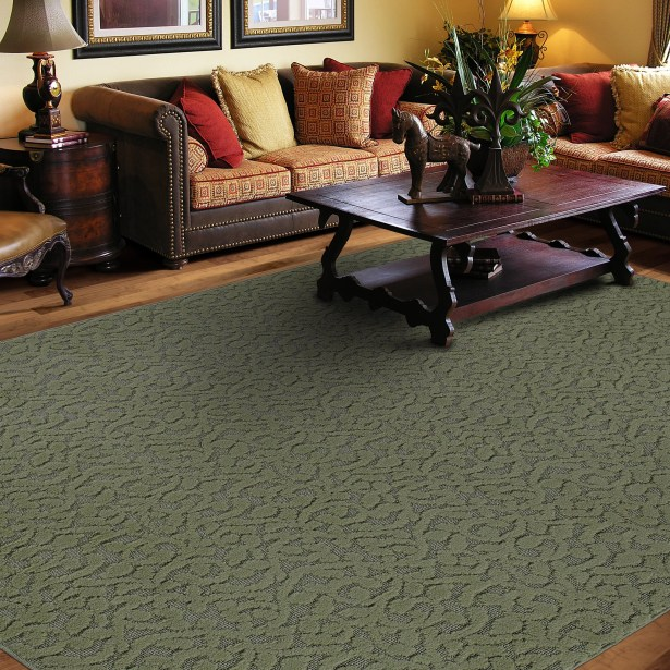 Edith Sage Green Area Rug Rug Size: Rectangle 6' x 9'