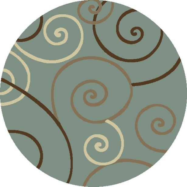 Chester Scroll Area Rug Rug Size: Round 5'3