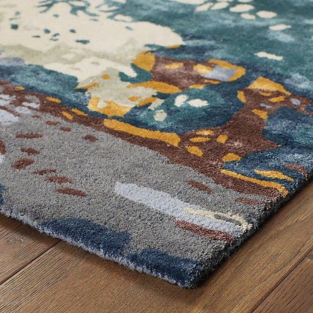 Wora Hand-Woven Blue Area Rug Rug Size: Rectangle 10' x 12'11