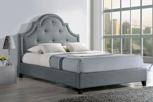 Teri Upholstered Platform Bed Size: King, Color: Light Beige