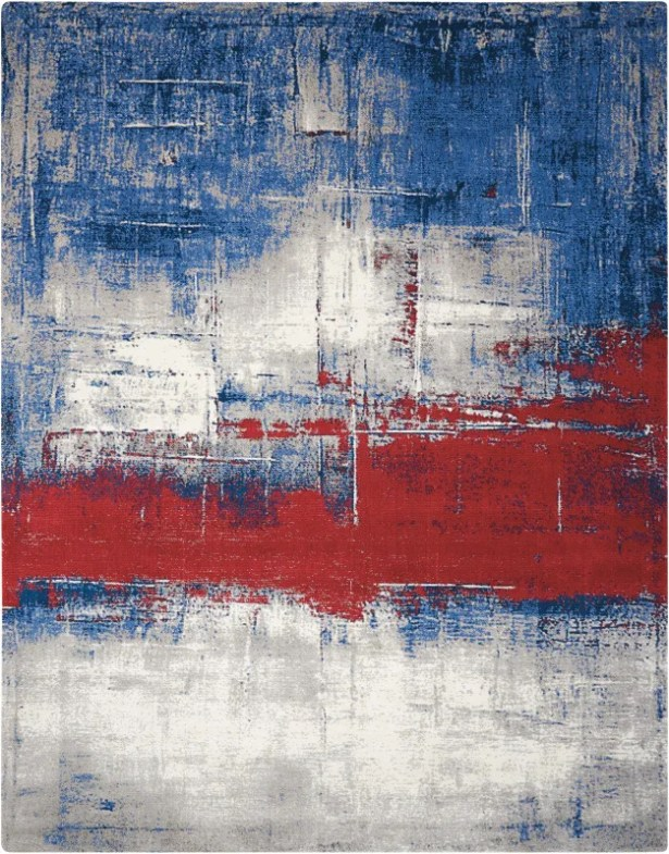 Antigua Blue/Red Area Rug Rug Size: Rectangle 8'6