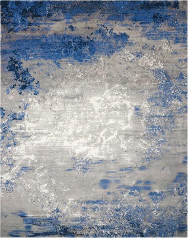 Antigua Blue/Gray Area Rug Rug Size: Rectangle 12' x 15'