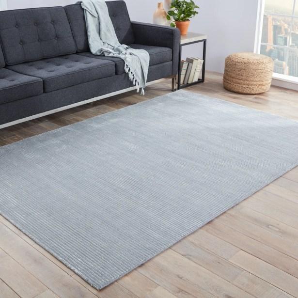 Nico Hand Loomed Glacier Gray/Paloma Indoor Area Rug Rug Size: Rectangle 8' x 10'