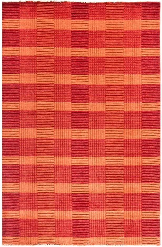 Apple Creek Hand-Knotted Red Area Rug Rug Size: Rectangle 4' x 6'
