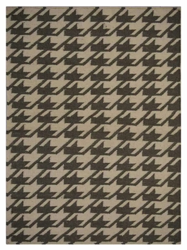 Ry Hand Knotted Wool Cream/Green Area Rug Rug Size: 6'4