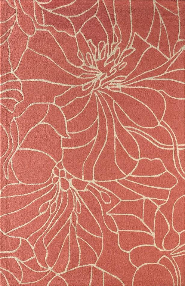 Gina Hand-Tufted Orange/Ivory Area Rug Rug Size: Rectangle 6' x 9'