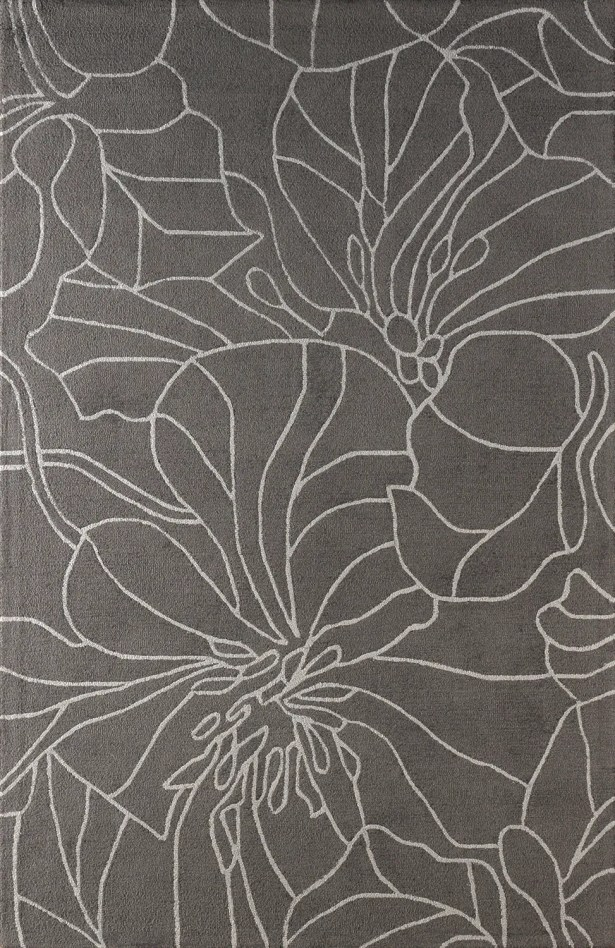 Gina Hand-Tufted Steel Area Rug Rug Size: Rectangle 5' x 8'