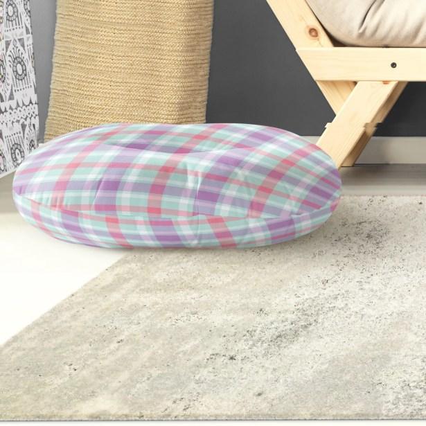 Malvina Plaid Indoor/Outdoor Floor Pillow Size: 26