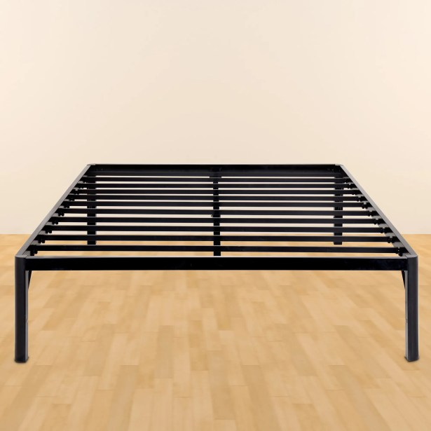 Yetter Steel Slat Bed Frame Size: Queen