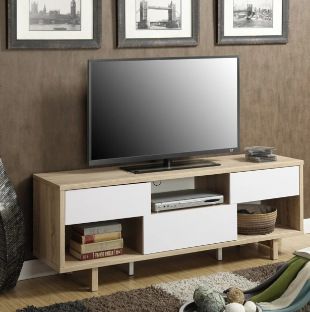 Purvis TV Stand Color: Weathered White