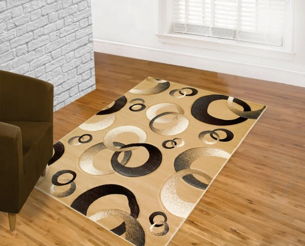 Champagne Area Rug Rug Size: 5' x 7'