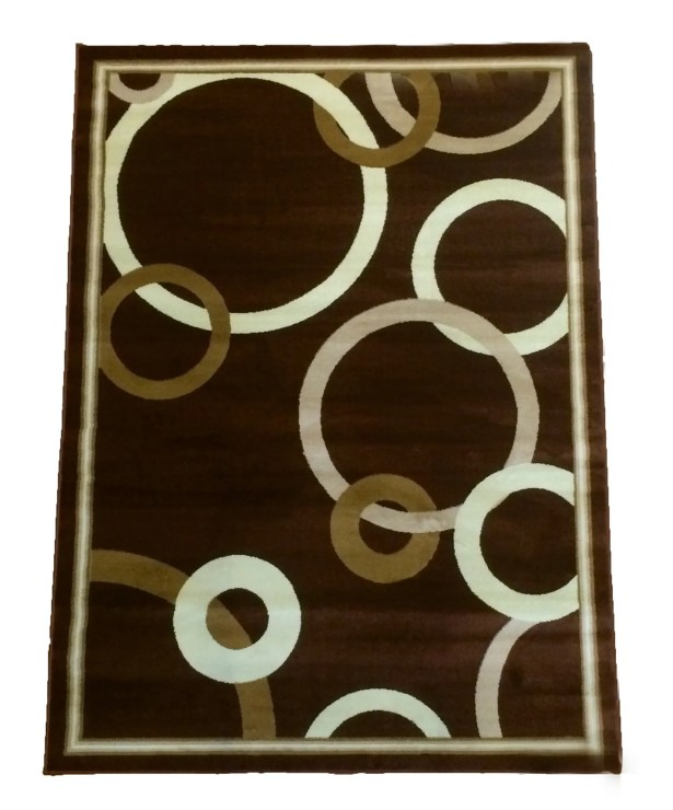 Dark Brown Area Rug Rug Size: 5' x 8'