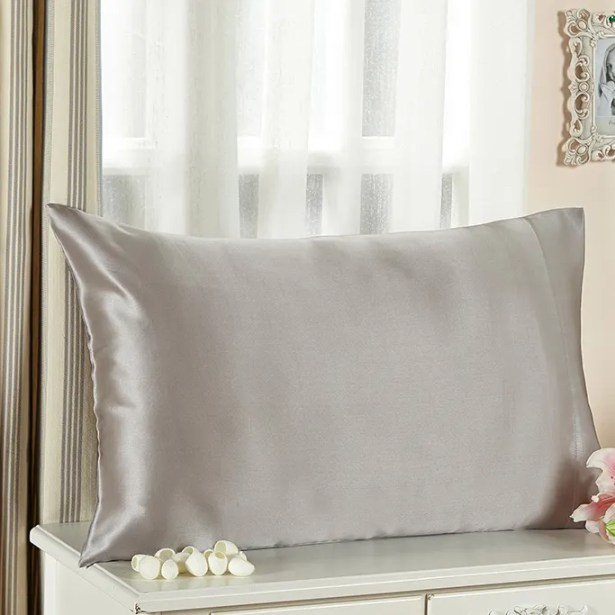 Pillow case Size: King, Color: Silver Gray