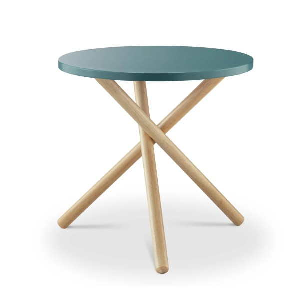 Humphery End Table Table Top Color: Teal
