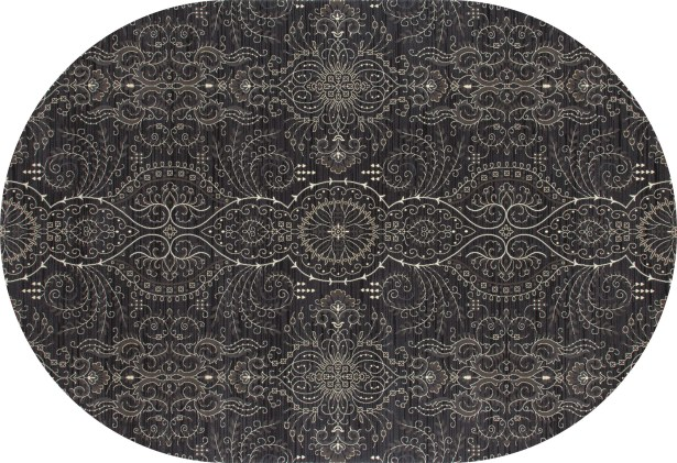 Castellano Gray Area Rug Rug Size: OVAL 3'11 x 6'1