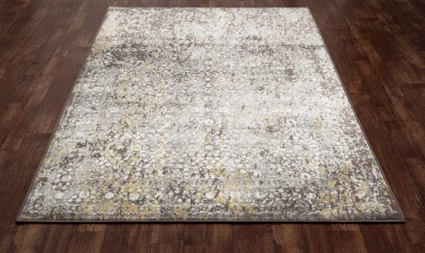 Devay Brown/Mushroom Area Rug Rug Size: 5'3 x 7'7