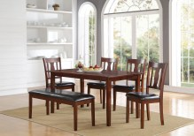 Dining Table Sets Eddie 6 Piece Solid Wood Dining Set