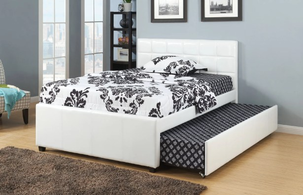 Dupuy Upholstered Platform Bed Size: Twin, Color: White
