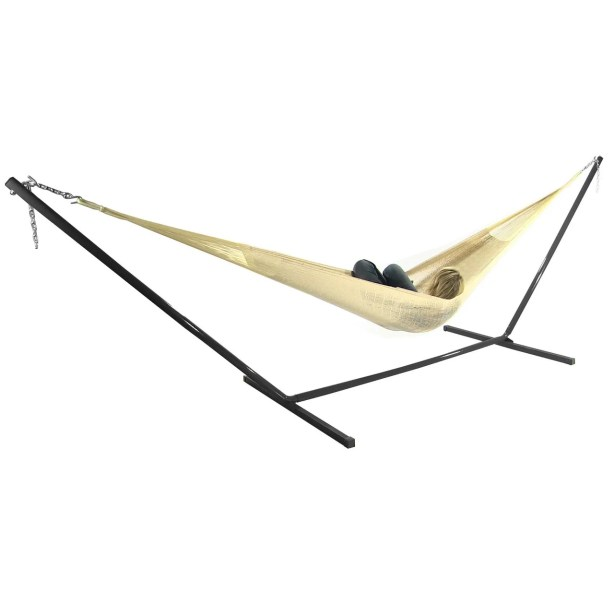 Shianne Cotton Hammock with Stand Color: Natural