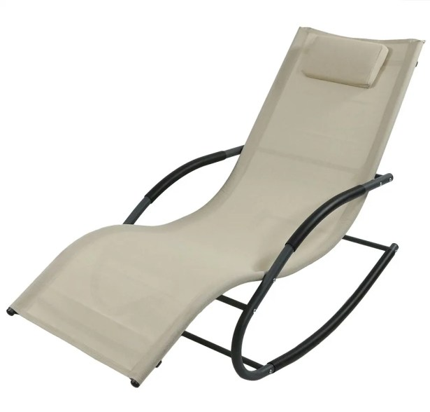 Ware Rocking Wave Chaise Lounge with Pillow Finish: Beige