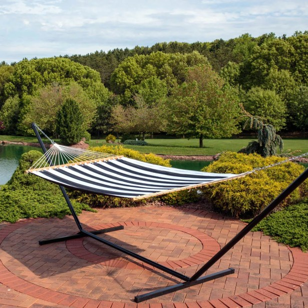 Kangas Polyester Hammock with Stand Size: 15'