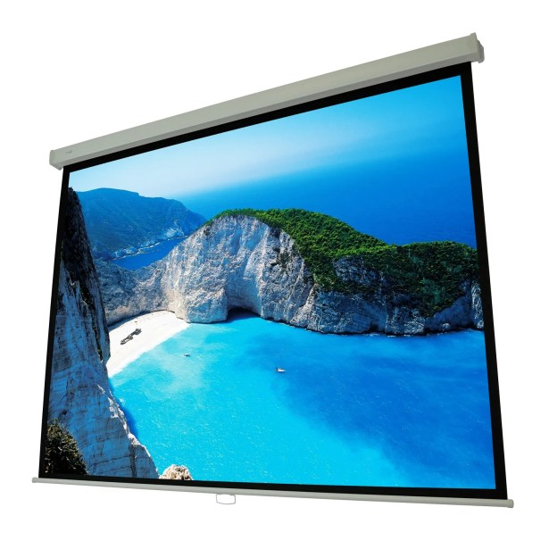 Cinema White Manual Projection Screen Viewing Area: 106