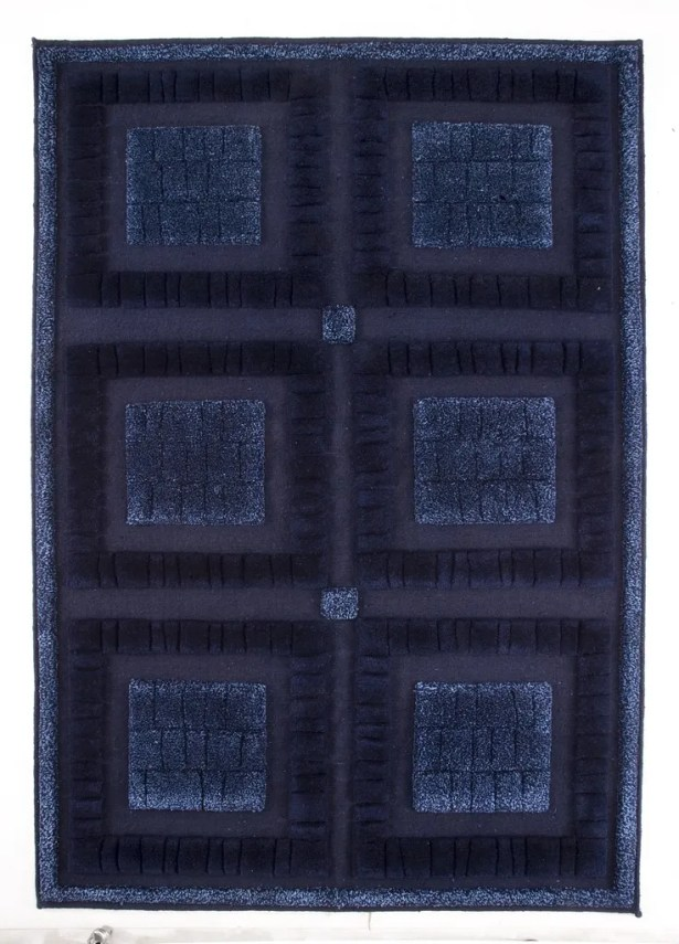 Bergamo Hand-Knotted Blue Area Rug Rug Size: 9' x 12'