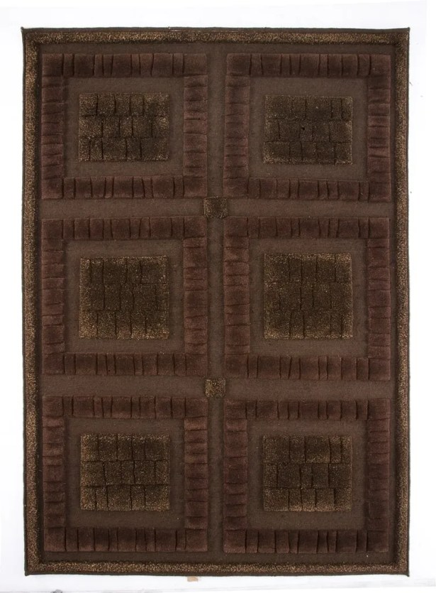 Bergamo Hand-Knotted Chocolate Area Rug Rug Size: 9' x 12'