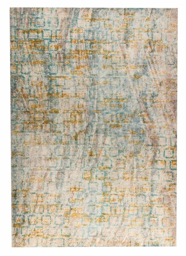 Torrance Hand-Woven Aqua/Orange Area Rug Rug Size: 2' x 3'