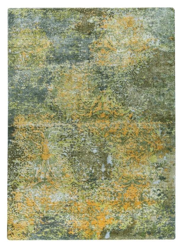 Mehran Hand-Woven Green/Orange Area Rug Rug Size: 2' x 3'