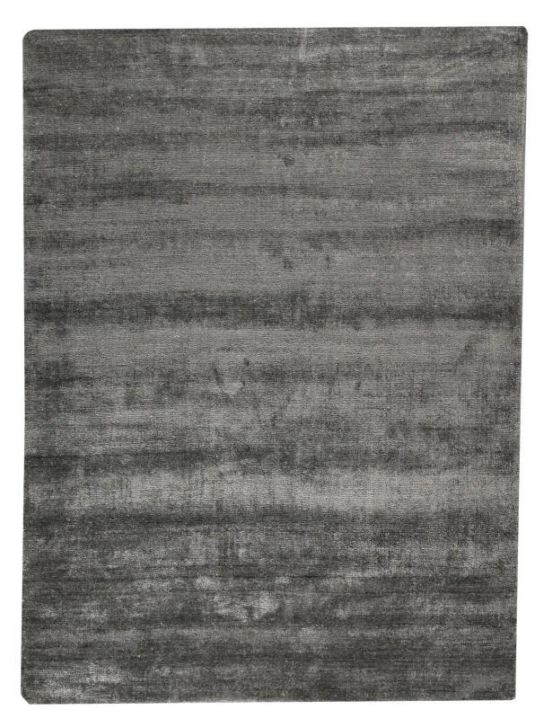 Platinum Hand-Woven Dark Gray Area Rug Rug Size: 8'3