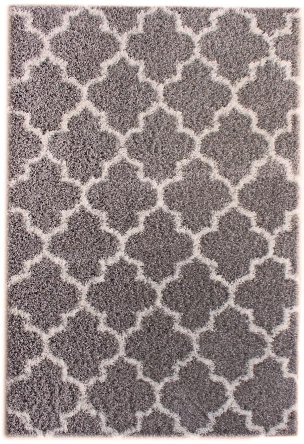 Sampson Gray/White Area Rug Rug Size: 5' x 7'2