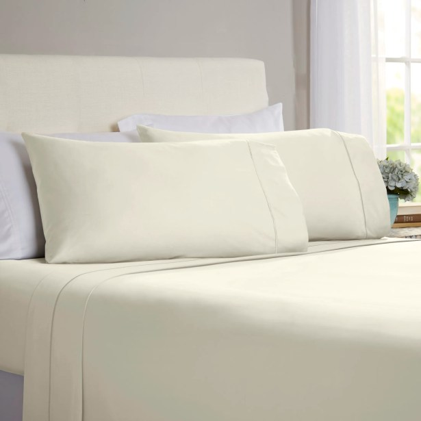 Jamel 4 Piece 820 Thread Count Egyptian Quality Cotton Sheet Set Size: Queen, Color: Ivory