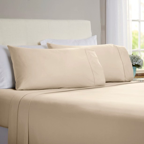 Jamel 4 Piece 820 Thread Count Egyptian Quality Cotton Sheet Set Color: Taupe, Size: King