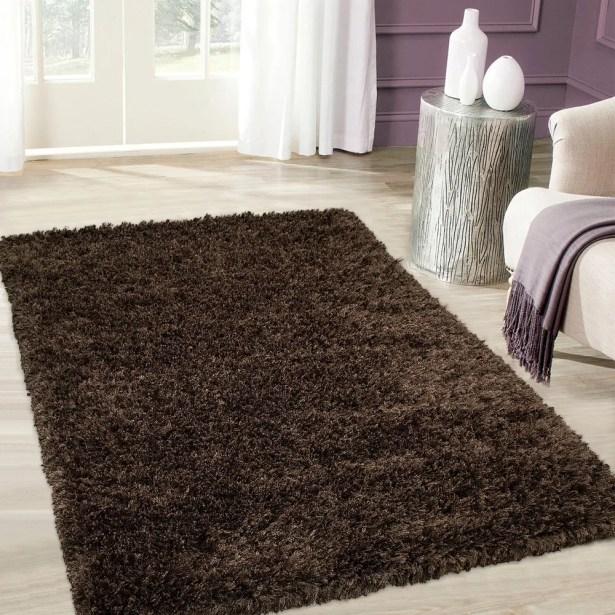 Handmade Brown Area Rug Rug Size: 4'11