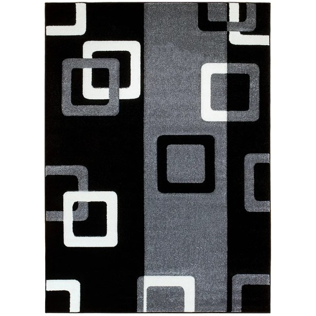 Gray/Black Area Rug Rug Size: Rectangle 7'9