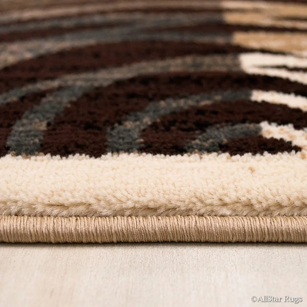 Champagne/Brown Area Rug Rug Size: Rectangle 5'2
