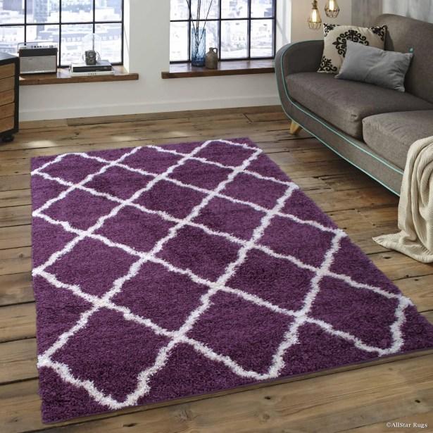 Abbey Purple Area Rug Rug Size: 5' x 7'