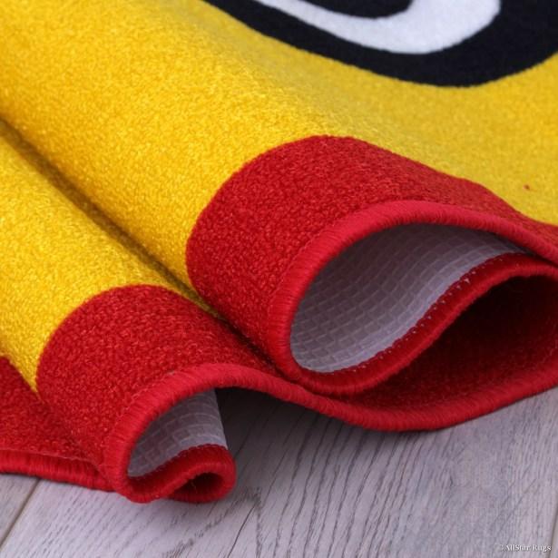 Nino Yellow/Green Area Rug Rug Size: 7'3