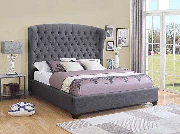 Celestine Upholstered Panel Bed Size: California King, Color: Dark Gray