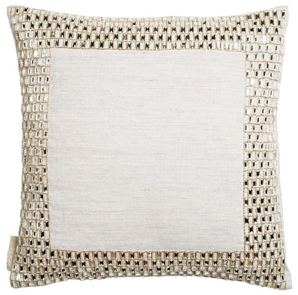 Border Brick Stone Work Throw Pillow
